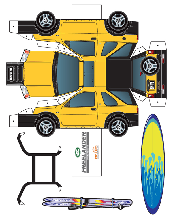 Freelander Model Car Cut Out - Free Printable 3D Paper Template