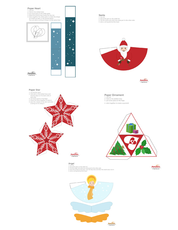 Christmas Ornaments Paper Model - Free Paper Toys and Models at ...
