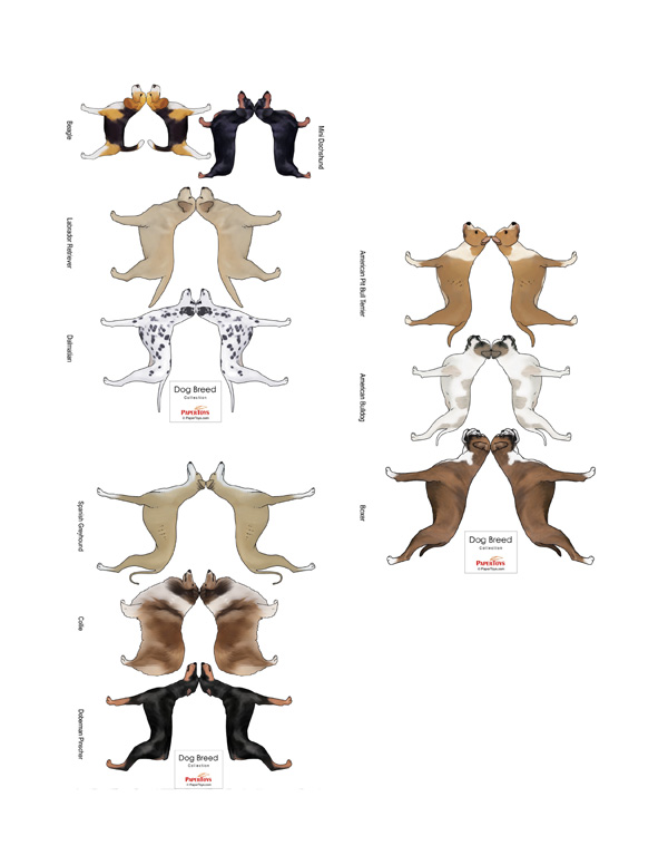 Dog Cut Out - Free Printable 3D Paper Model Template