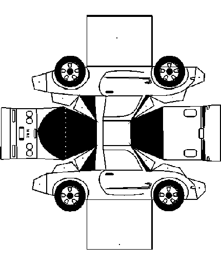 MR2 Model Cut Out - Free Printable 3D Paper Template