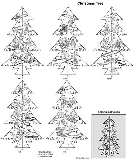 3d Paper Christmas Tree Template.Christmas Tree Cut Out Free Printable 3d Paper Model Template