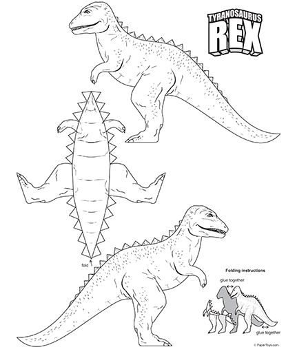 Tyrannosaurus Rex Cut Out - Free Printable 3D Paper Model