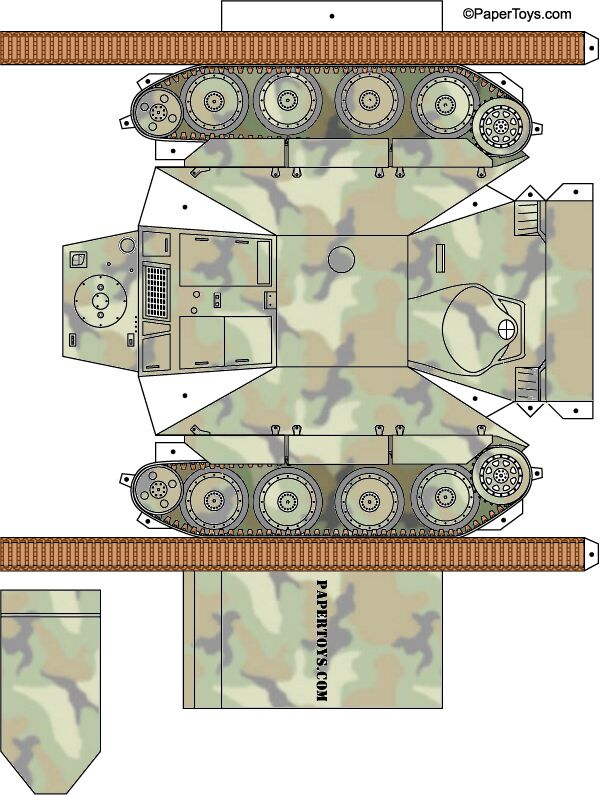 graphic about Printable Tanks referred to as Paper Toys - Cost-free Printable Papercraft Layouts, Minimize Outs 3D