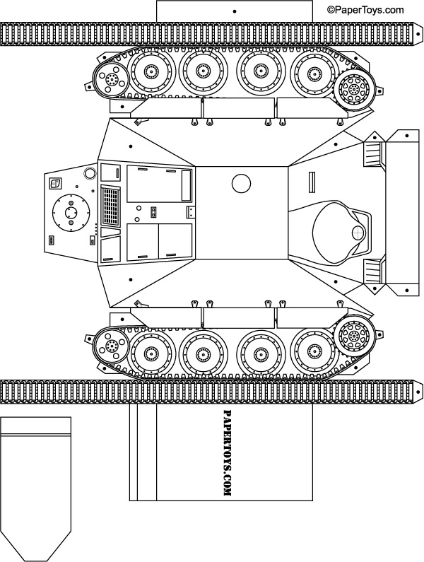 Model Tank Cut Out - Free Printable 3D Paper Template