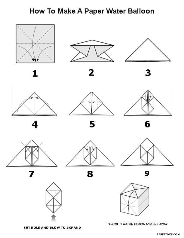 Оригами фонарики из бумаги